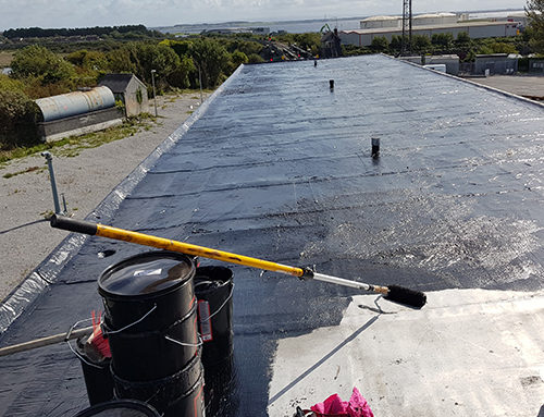Liquid Rubber Flat Roof Application